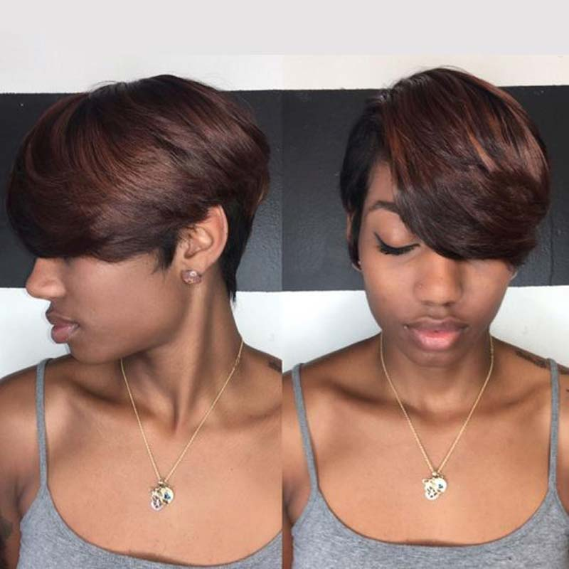 Luna 045 Women Pixie Layered Short Straight Wig for African American