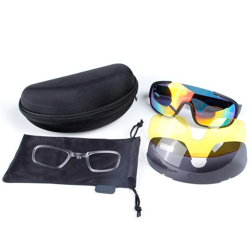Cycling Sunglasses Polarized Outdoor 5 Pc Riding Mirror