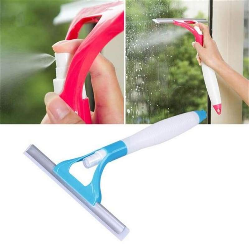 Spray type cleaning brush 1pcs window cleaner cleaning scraper