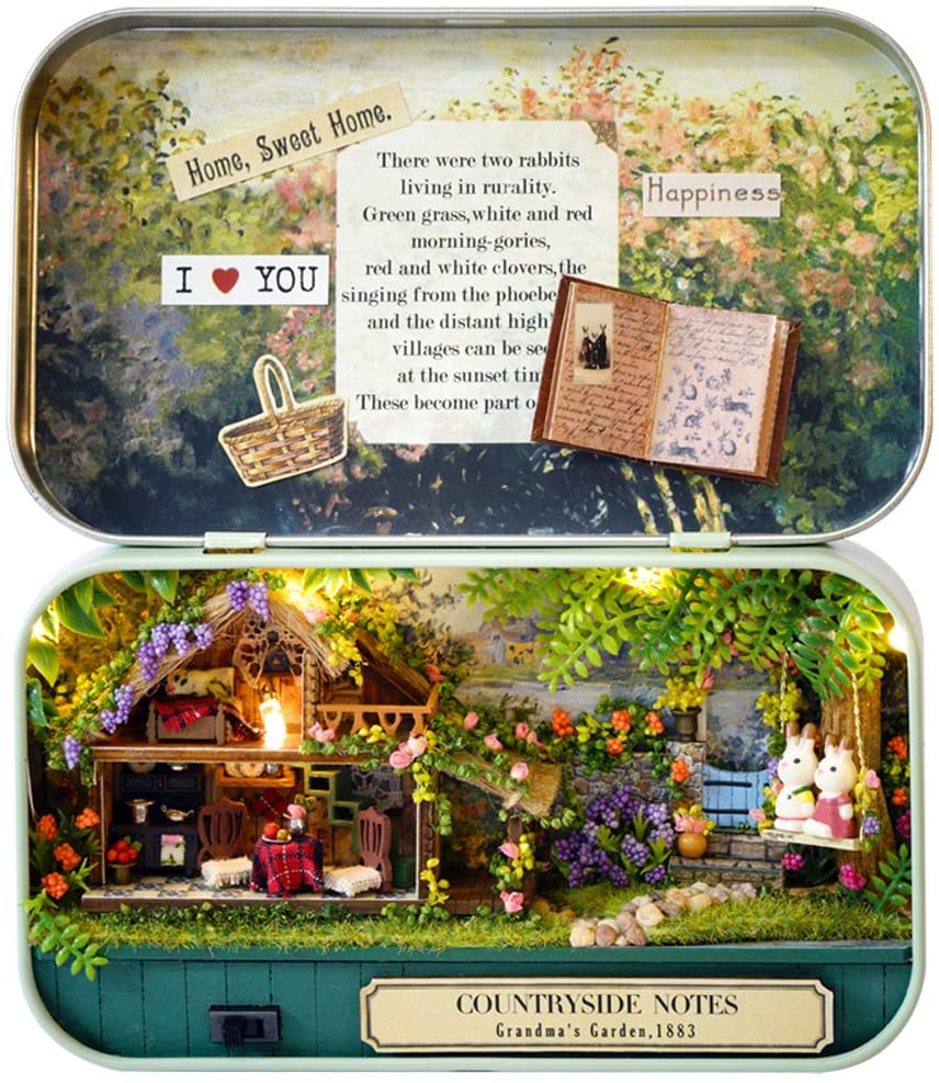 💝[Last Day Promotion- On-Time Delivery]Box Theater Doll House DIY Kit