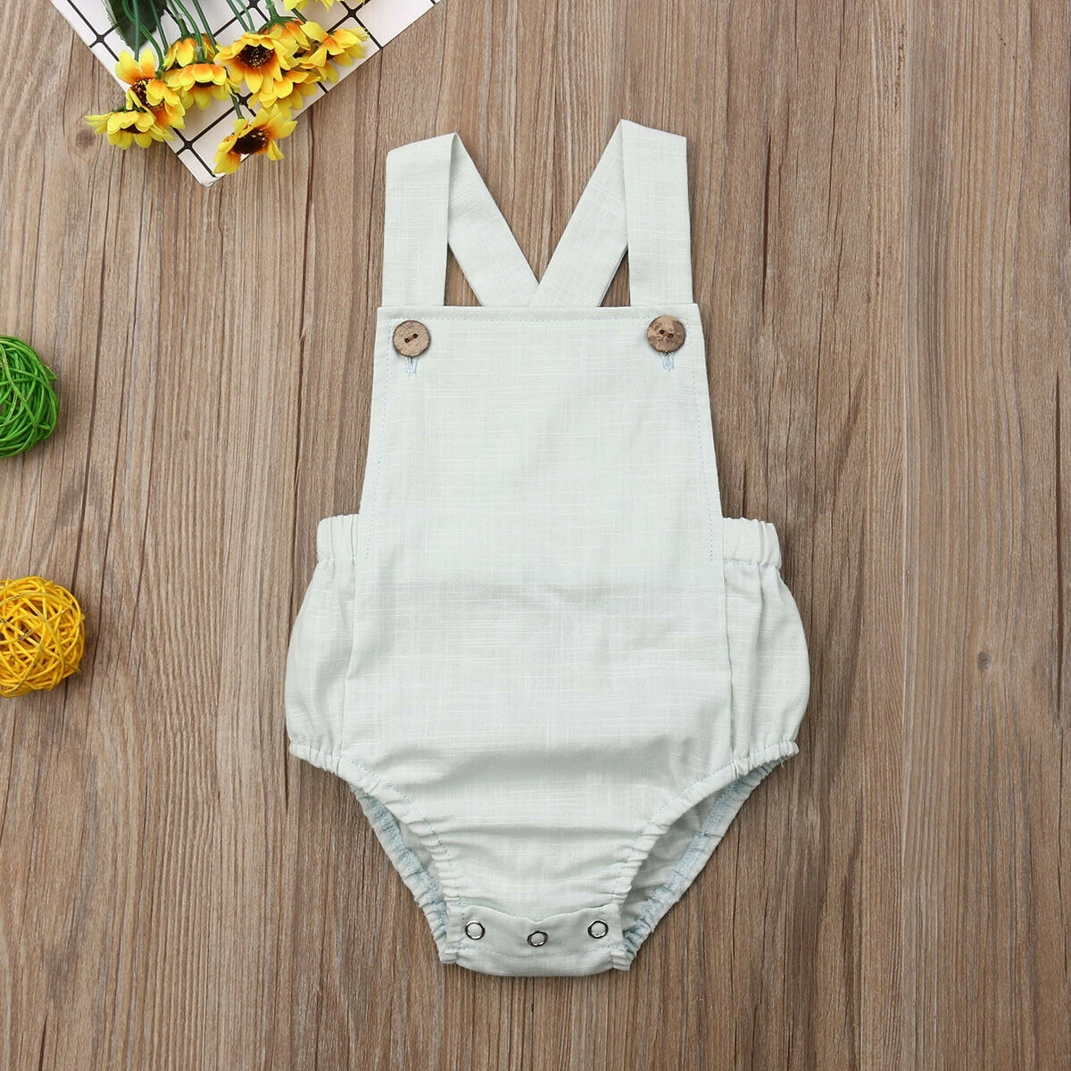 Newborn Infant Baby Boy Girl One-Piece Romper Bodysuit Sunsuit Summer Outfit Set Clothes