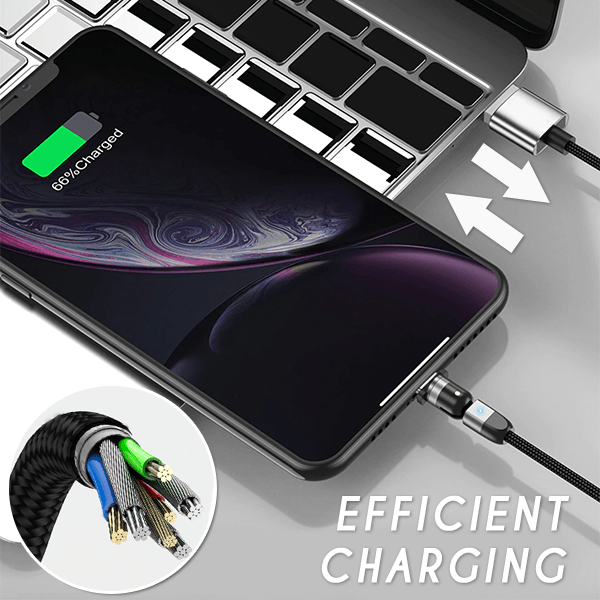 360 Degree Rotation Magnetic Cable for Apple Mirco USB Type-c