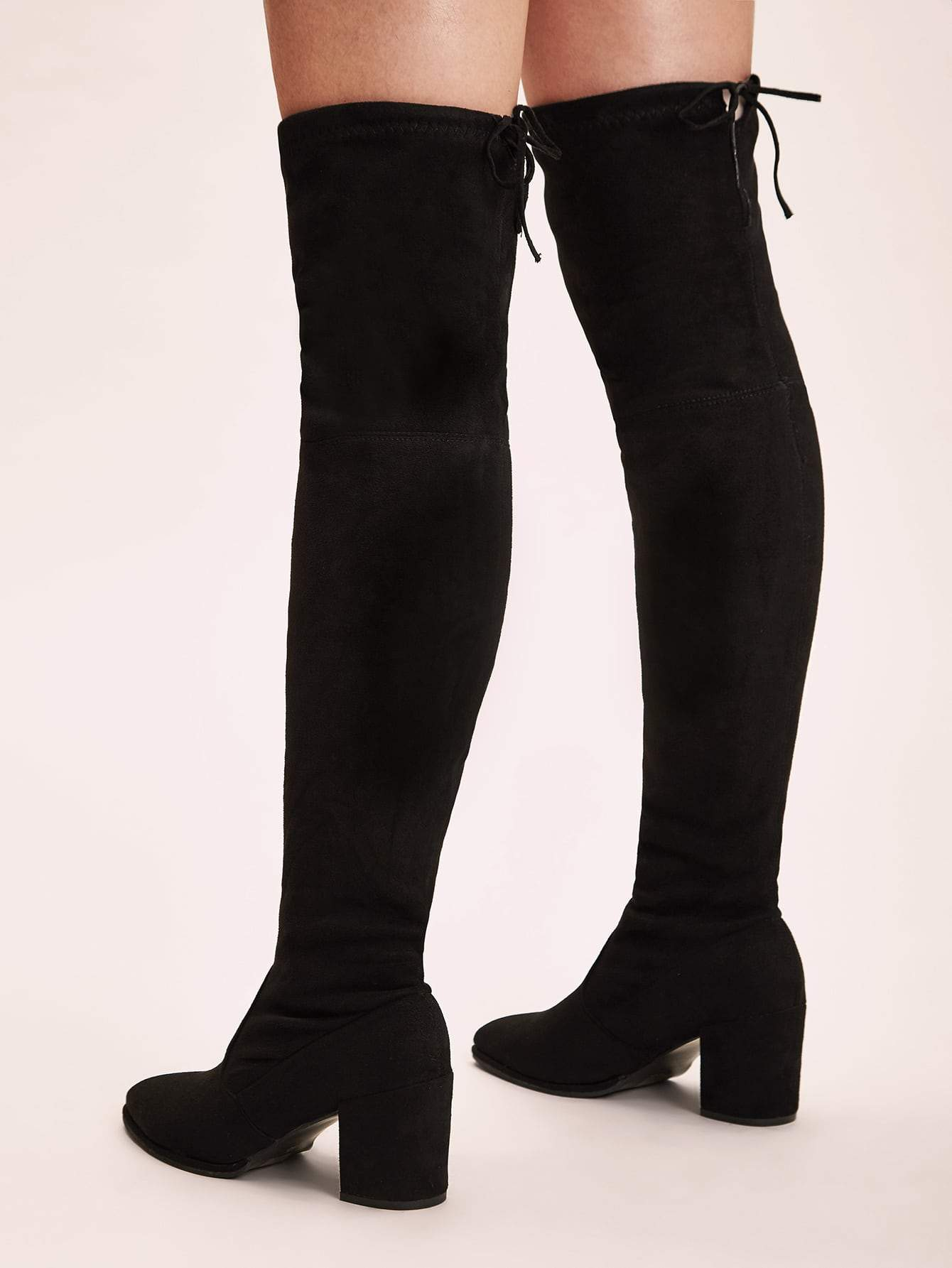 Tie Back Over The Knee Boots