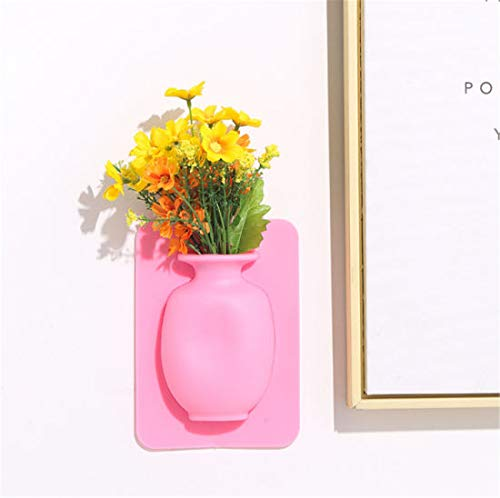 Wall Hanging Silicone Flower Pot Sticker Plant Shelf