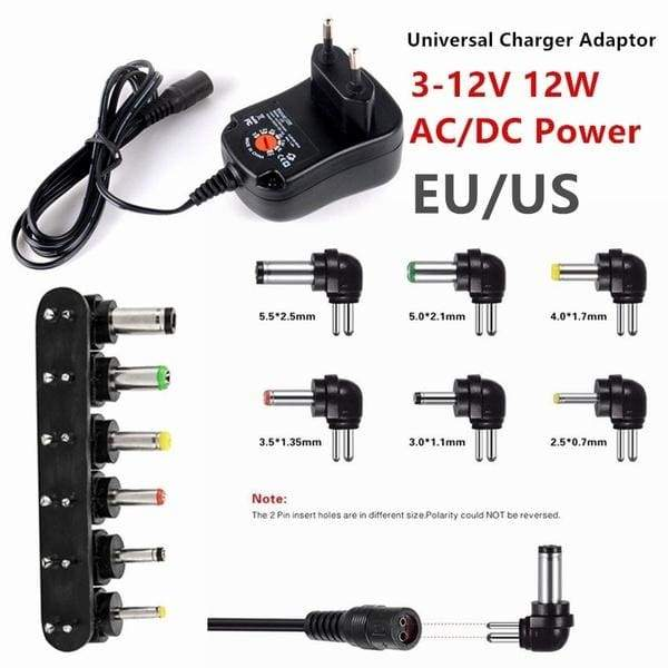 Universal 3-12V 12W 1.2A AC/DC Power Supply Adaptor Plug Charger Adaptor Zx