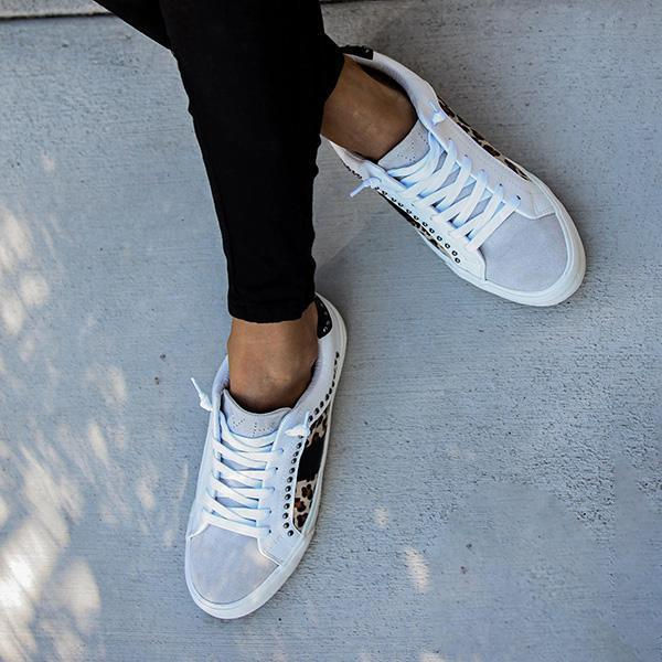 Lalarosa Studded Leopard Sneakers