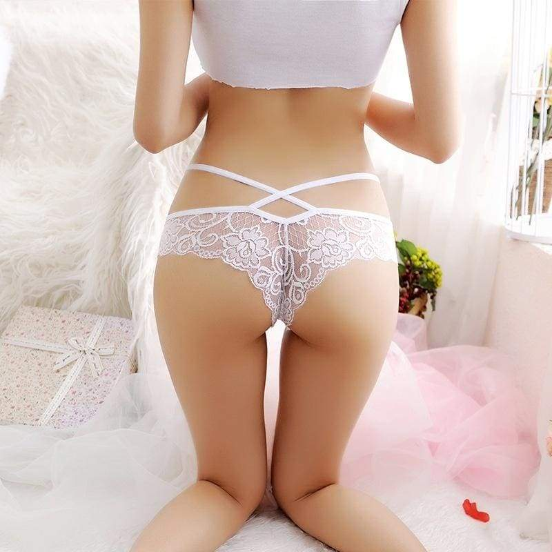 Women's Fashion Sexy Underwear, Transparent Lace Pants and T Pants New Fashion Perspective