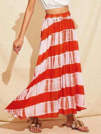 Holiday Tie Dye Maxi Skirt