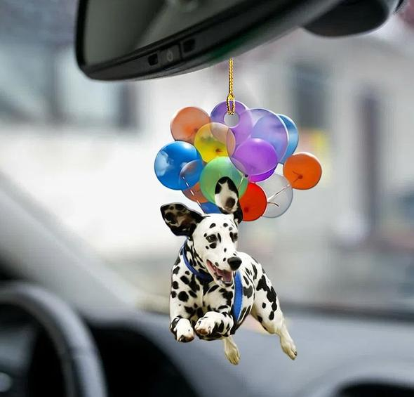 Dalmatian Dog Fly With Bubbles Car Hanging Ornament