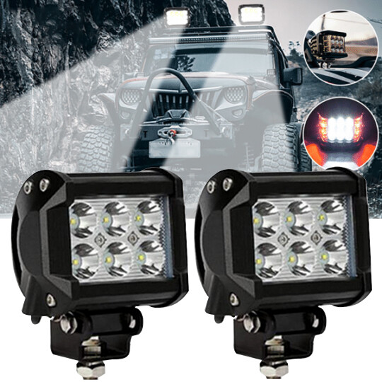"""3.75"""" Dual Side Shooter Dual Color Strobe Cree Pods"""