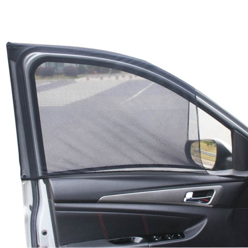 Universal Car Windshield Sun Shade (One Pair/ 2 Pcs)