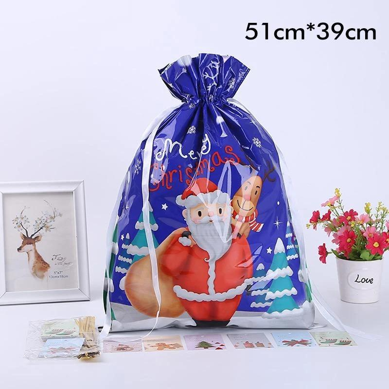 Exclusive discount-waiting for Christmas---Drawstring Christmas Gift Bags