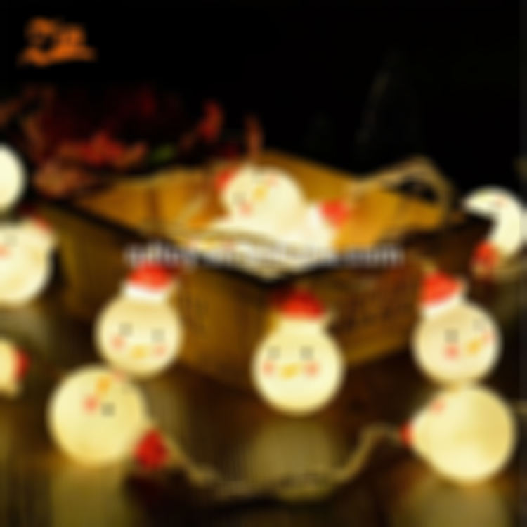 Longshun led wire string Santa Claus Christmas yard party decorations hanging snowman lamp