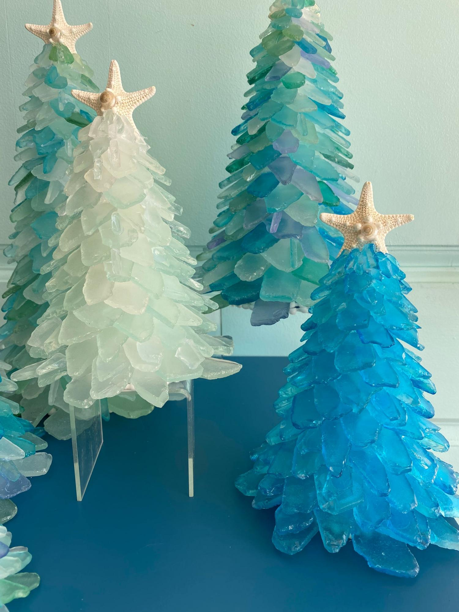 Beautiful Sea Glass Christmas Trees