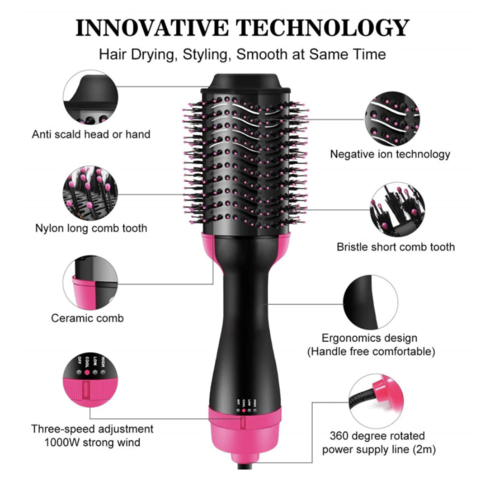 4 in 1 Hot Air Hair Brush (BUY 2 GET 15% OFF & FREE SHIPPING)