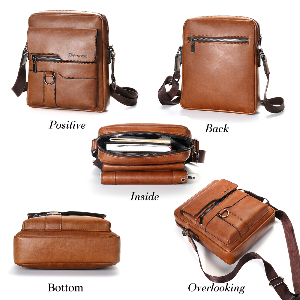 Men's Leather Crossbody Bag 1901