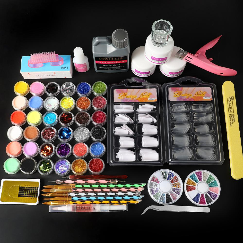 Acrylic Nail Kit Nail Extension Kits With Polisher All For Manicure Nail Art Decorations Nail Kit Professional Set