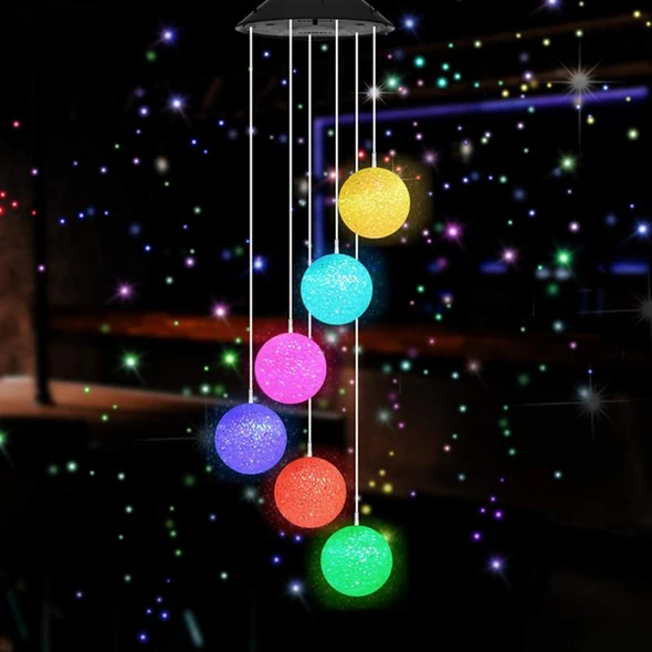 【50% Off Father's Day Promotion】-Solar Powered Wind Chimes Lights