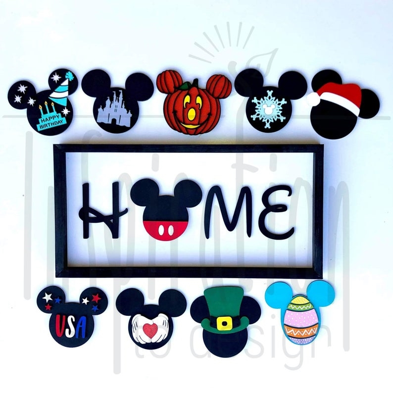 Mickey Mouse Inspired Home Sign