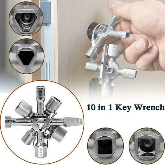 SKRTEN 10 In 1 Multifunction Cross Switch Key Wrench