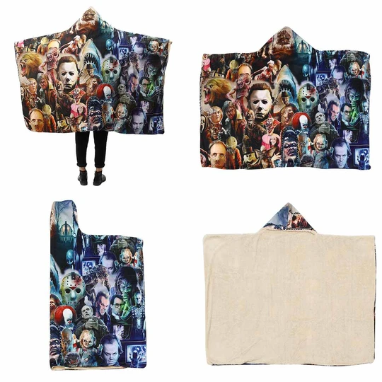 Horror Classics Hooded Blanket【BUY 2 SHIPPING FREE】