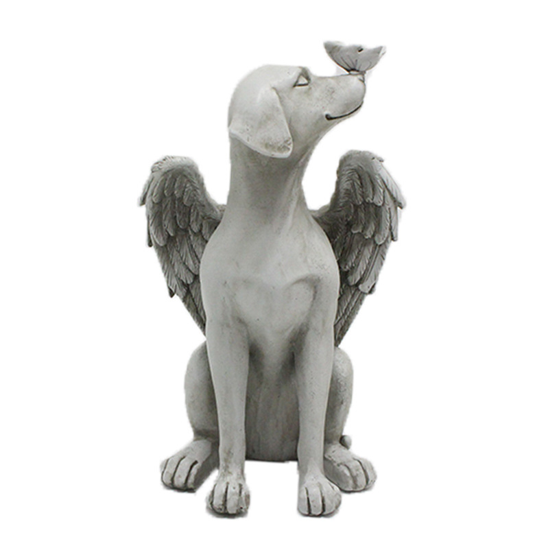 Butterfly Angel Dog Memorial Statue