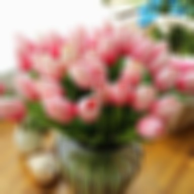 Tulip Artificial Flowers 10 Branch Modern Style Tulips Tabletop Flower