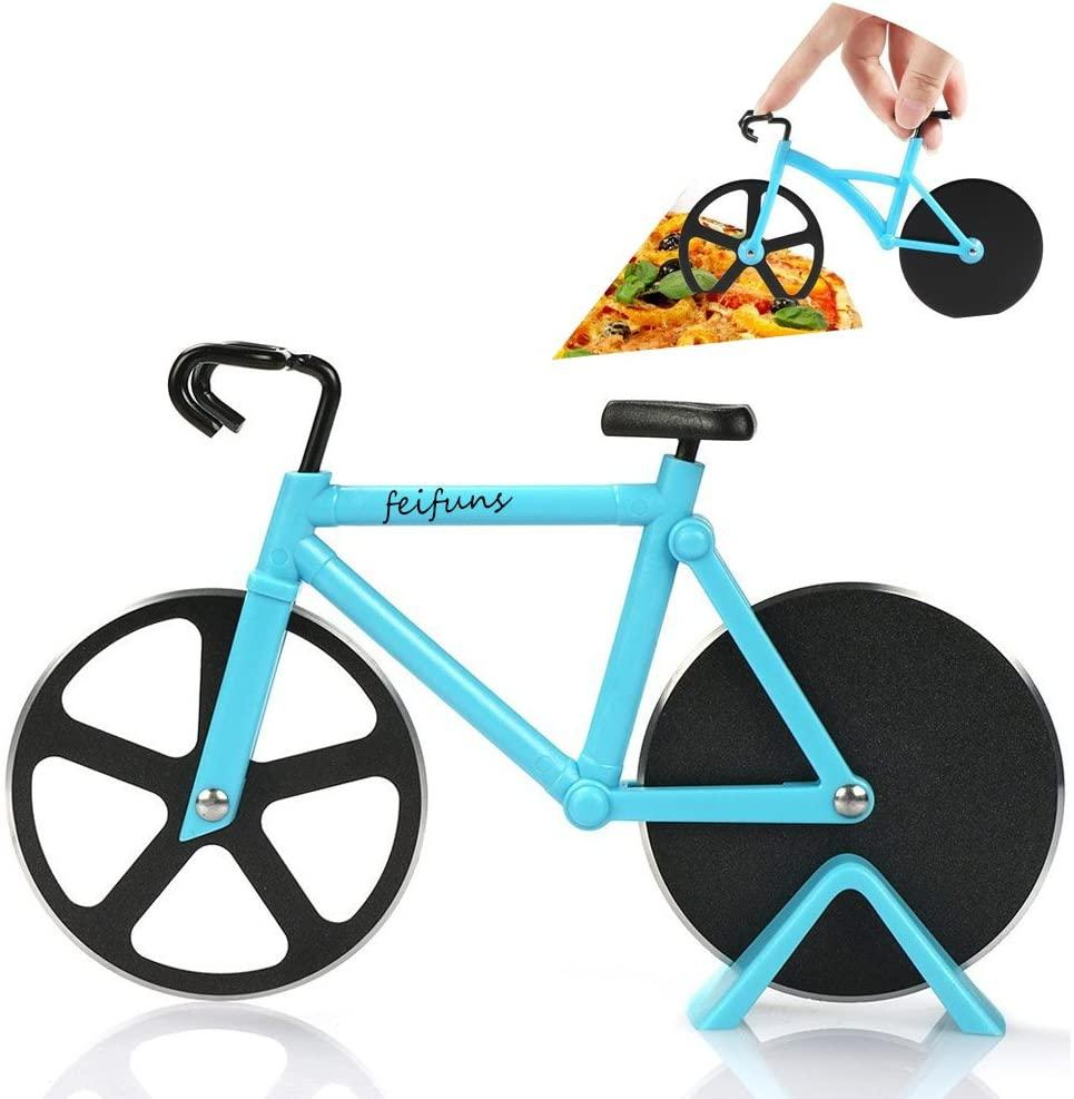 Non-Stick Bicycle Pizza Cutter – Stainless Steel