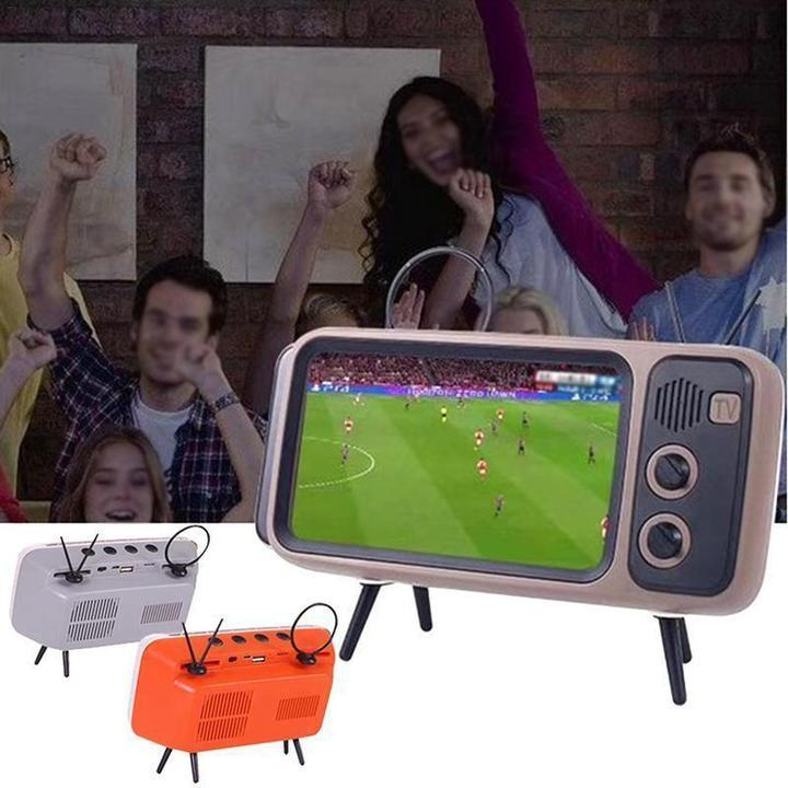 Retro TV Bluetooth Speaker with Phone Holder(Buy 2 Free Shipping)