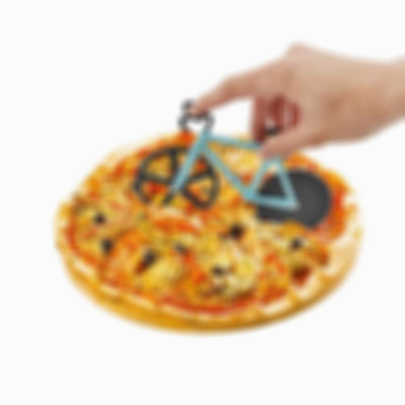 BREEZYLIVE Dual Stainless Steel Wheels Non-Stick Bicycle Pizza Slicer