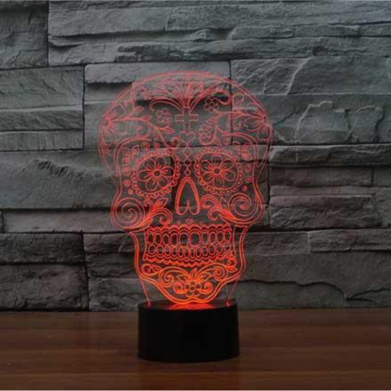 SKULL BUSTER 3D ILLUSION LAMP
