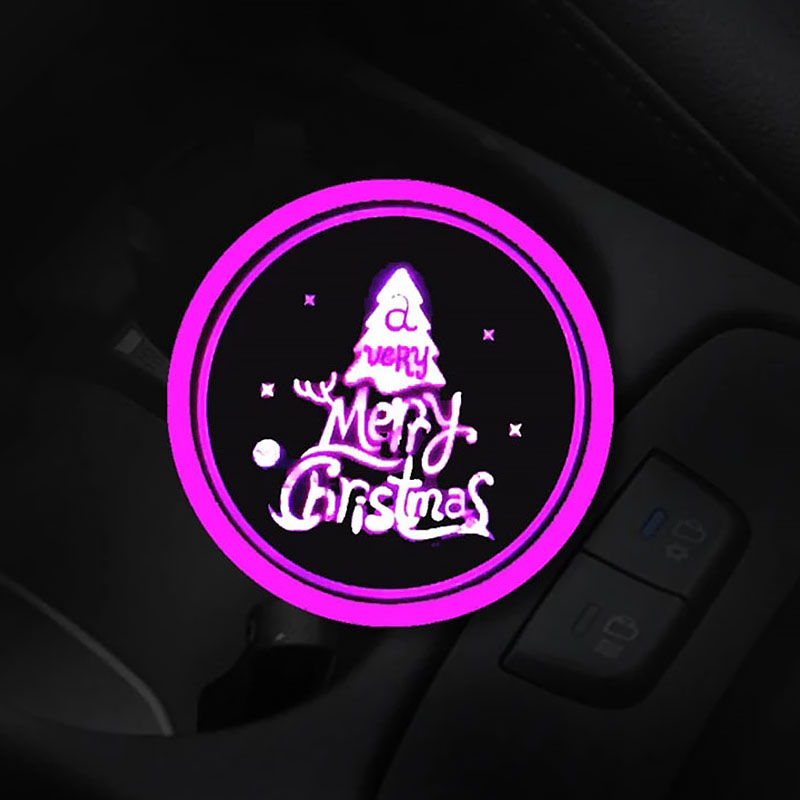 AHOME7 (Only $9.99 Today - Merry Christmas) 7 Colors Led Changing Car Cup Coaster Led Car Logo Cup Lights up Holder