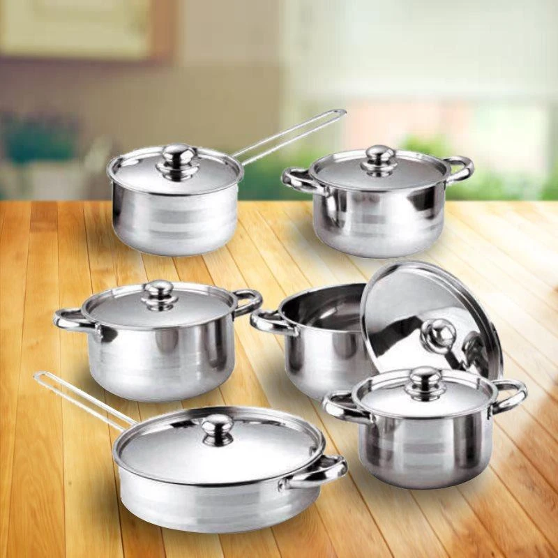 12 Pcs Thickening Cookware Set [FREE SHIPPING + 50% OFF]