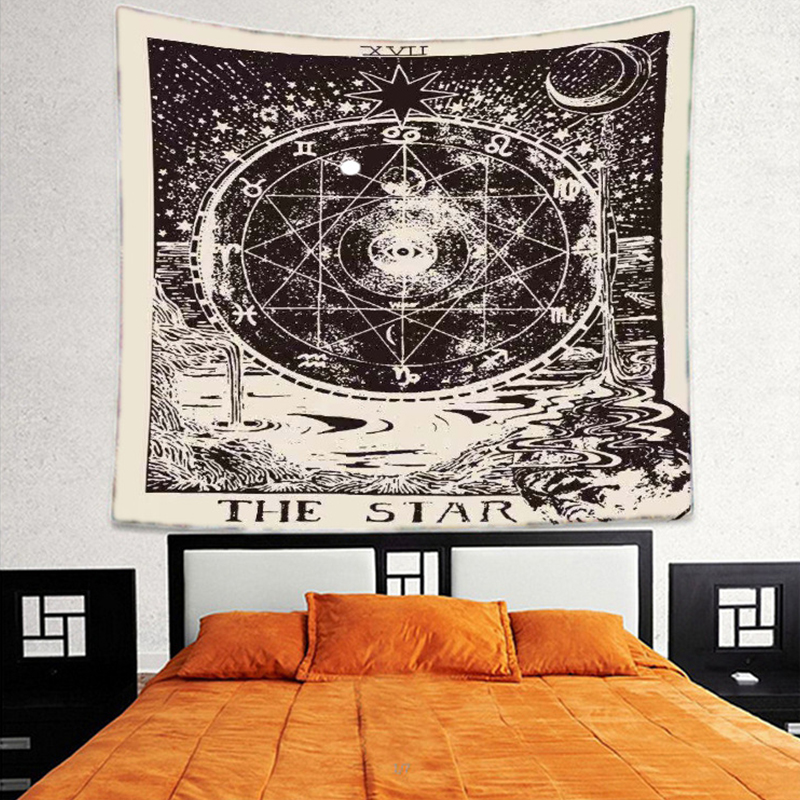 Astrological divination lucky hanging cloth