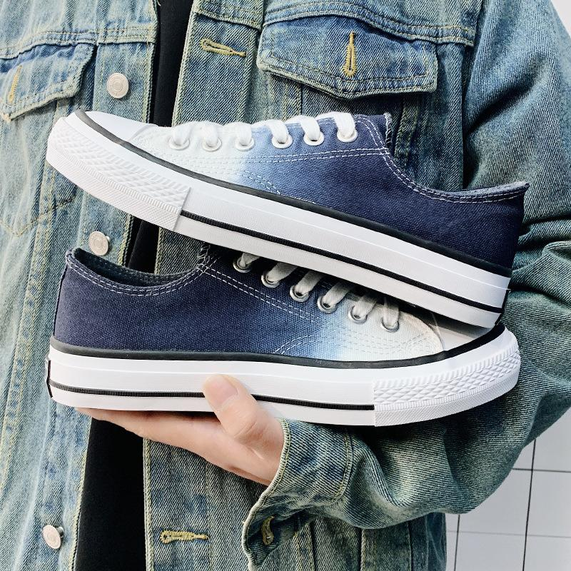 2020 summer new gradient canvas shoes male students