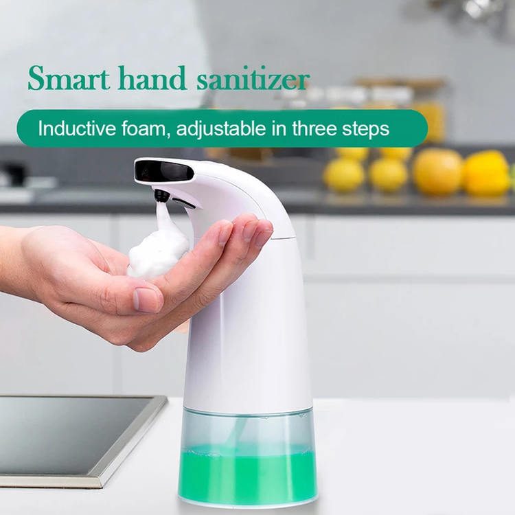 Automatic Foaming Soap Dispenser, Touchless Hands Free Soap Pump Liquid Foam Dispenser with 0.25s Infrared Motion Sensor