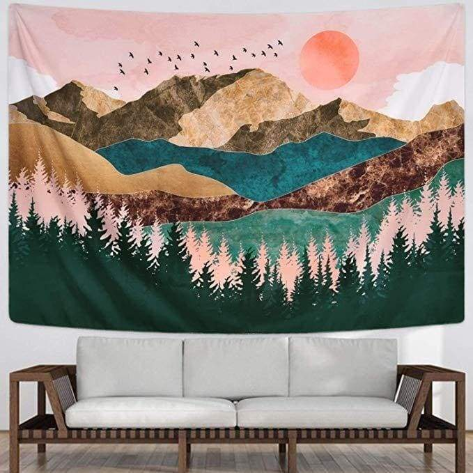 Hippie Wall Tapestry Witchcraft Wall Blanket Boho Decor Wall Rug Gothic Home Decoration Wall Cloth