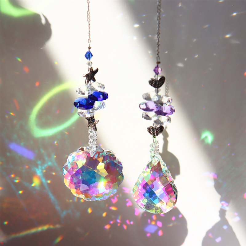 Colorful crystal pendant wind chimes
