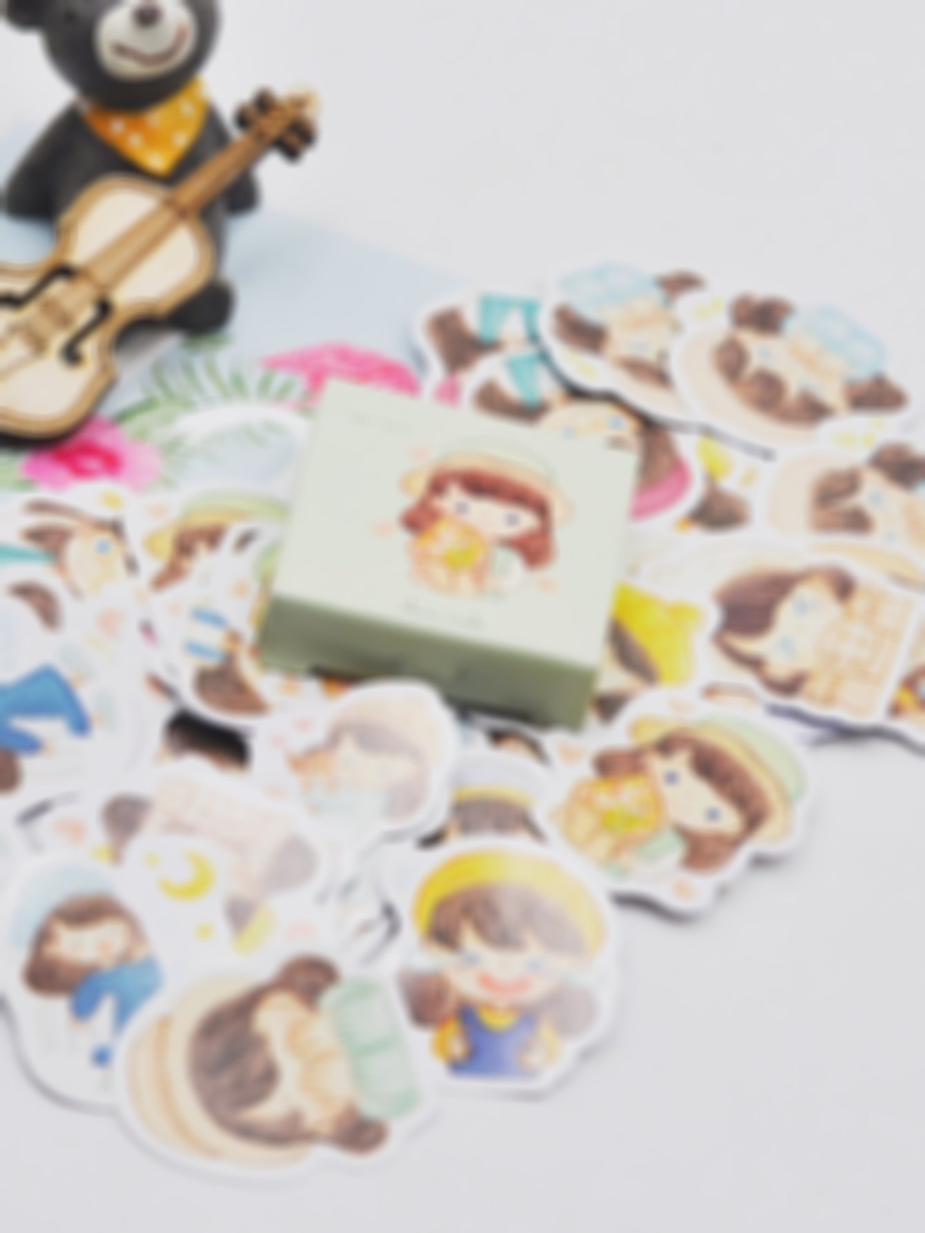 Cartoon Girl Sticker 56pcs