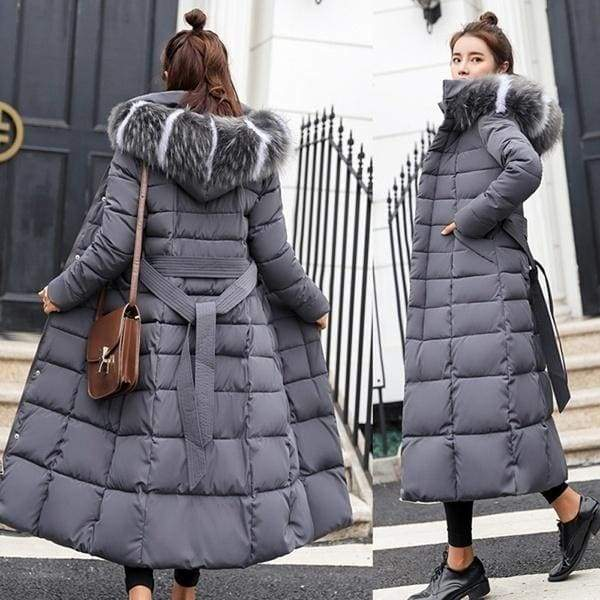 XS-3XL Women Winter Down Coat Clothes Cotton-Padded Thickening Down Casual Winter Coat Long Jacket Down Parka Casacos de inverno feminino