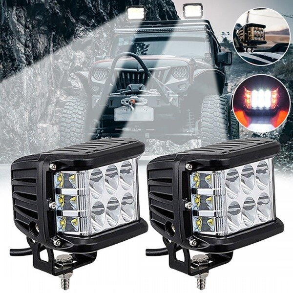 🔥Christmas Sale 50% OFF🔥3.75'' Dual Side Shooter Dual Color Strobe Cree Pods for Truck ATV Boat