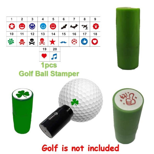 Golf Ball Stamper No Fade Fast Dry Golf Ball Stamp Marker Impression Seal For Marker Golf Accessorie