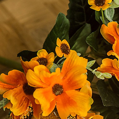 Artificial Flowers 1 Branch Classic Simple Style Sunflowers Tabletop Flower