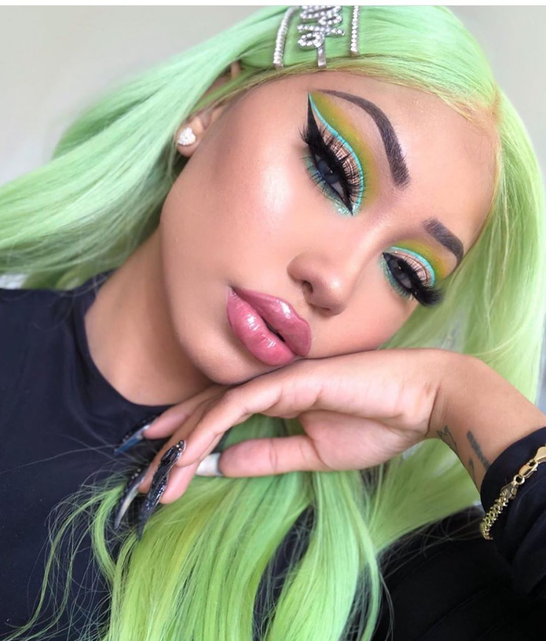Green Wigs Lace Front Wigs Virgin Hair For Black Women Wig With Blonde Highlights 12 Inch Bob Wig Color Wigs Bright Red Wig Free Shipping