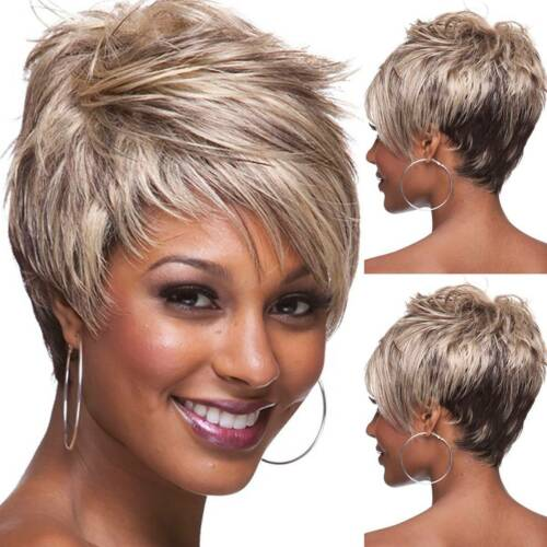 Luna Women Wig C42 Short Straight Layered Hair for African American