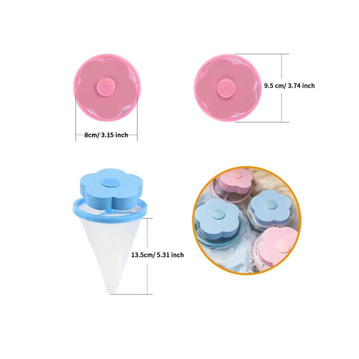 Cleaning Flower Washing Machine Hair Removal Clean Net Bag Floating Filter Pouch