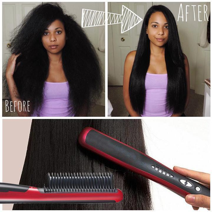 【Christmas's Day Promotion-50% Off】Hair Straightener Styling Comb