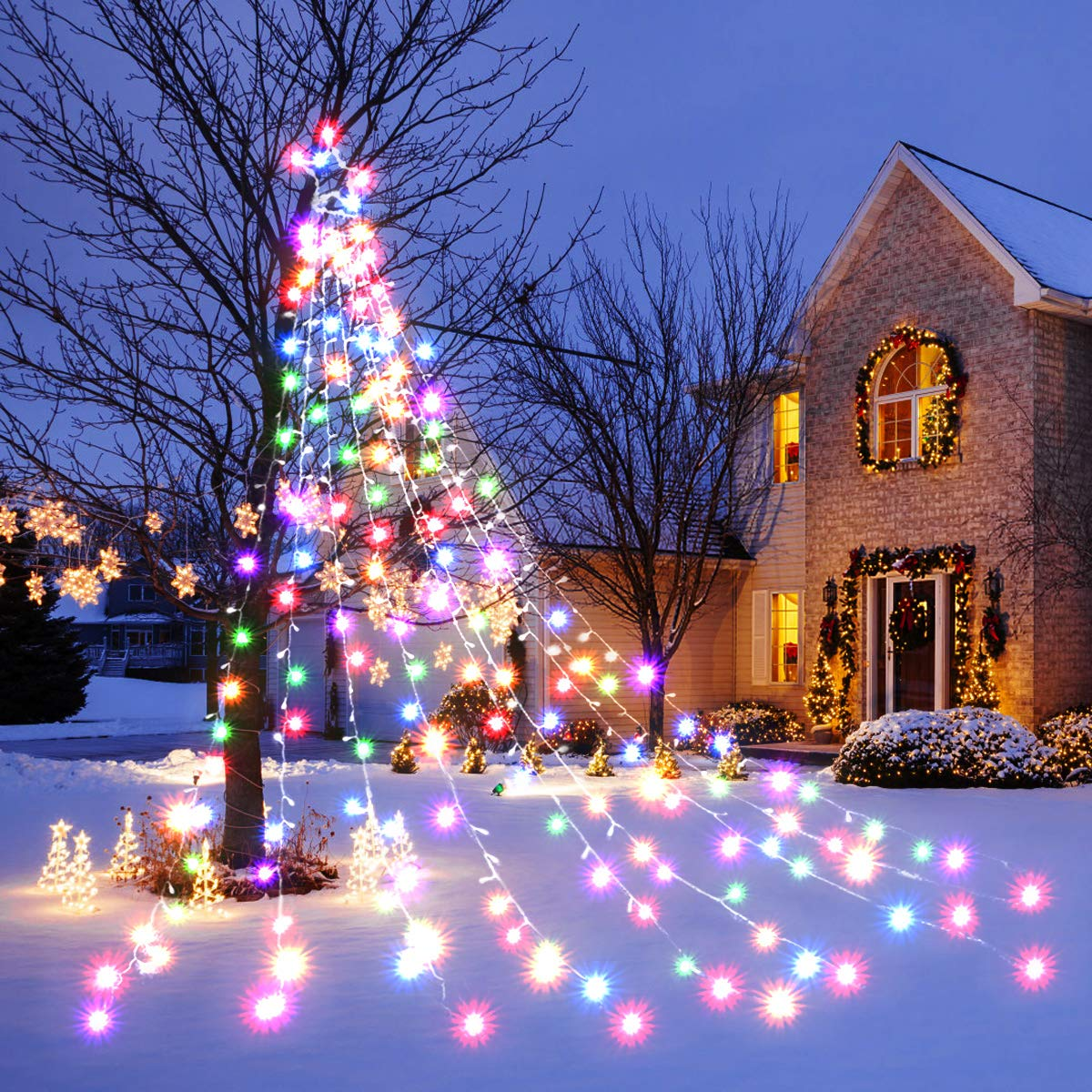 Outdoor Christmas Decorations 335 LED Star Lights