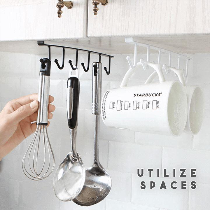 (💥New Year Hot Sale💥-48% OFF)Under-Cabinet Hanger Rack (6 Hooks)