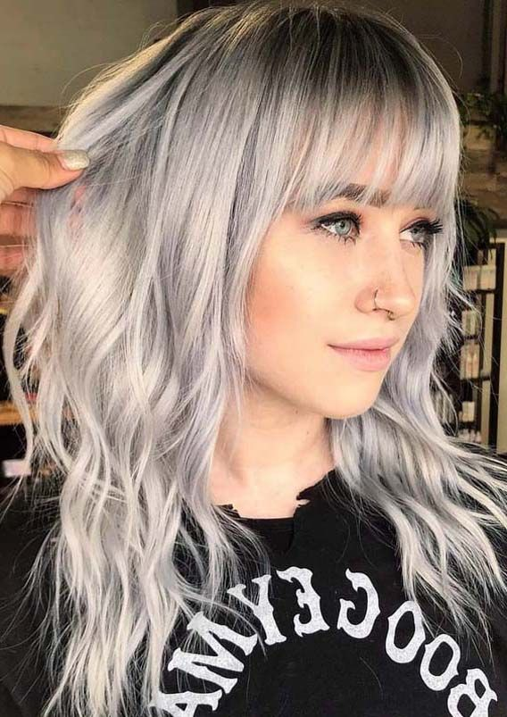 2020 New Gray Hair Wigs For African American Women Wigcloseouts Grey Hair At 16 Hair Wig For Man Online Smokey Gray Hair Nakli Baal Price